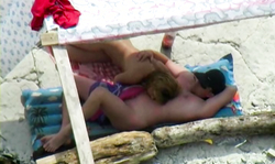 The Hottest Amateur Chick Gives A Deep Blowjob On The Beach