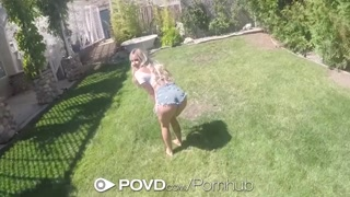 POVD Huge-boobed Thick Lipped Blond Kylie Page Got Banged After Picnic