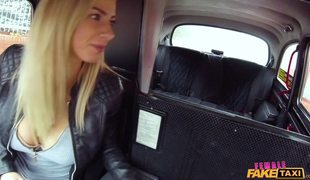 Blonde Driver Nathaly Has Big Tits And Loves To Fuck Her Passengers