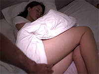 Sleeping Babe Woken Up With A Dick