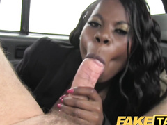 Sexy Black Babe Loves A Big White Cock In Her Ass