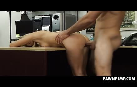 Blonde Pimped Out Pussy Banged In Da Pawn Shop Office