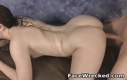 Very Roughly Doggystyle Fucking Brunette Whore Maci May