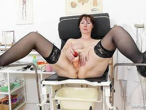 Spiky-looking Housewife Getting A Gyno Porn