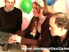 Truth Or Dare In Amateur Sexy Party Game Group
