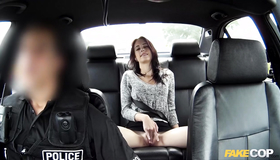 Very Lustful Arrested Bitch Anna Lee Is Spreading Legs And Starting To Masturbate On The Backseat. Fake Cop Asked This Cutie To Take His Hard Boner If She Want Something More.