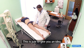 Horny As Fuck Dog Cannot Deny That He Want To Fuck This Hottie As Deep As Possible. Watch This Crazy Security Cm Show To See How A Fake Doc Is Having Fun With A Patient!