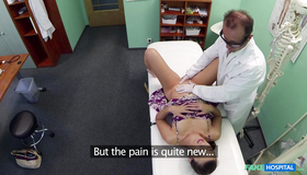 Crazy Hot Babe Is Getting On The Medicine Table In The Fake Hospital. Crazy Fake Doctor Is Exploring Her Accurate Snatch In A Hot Way.
