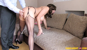 Experienced Milf In Black Stockings Tara Is Getting Down On The Knees. Pretty Hot Bitch Is Taking My Boner As Quickly As Possible.