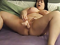 Wondrous Chunky Lady With Really Enormous Ass And Big Tits Masturbated