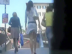 Sexy Lady Hot Ass Upskirt