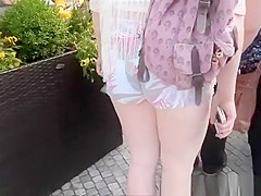 Girl With A Big Ass In Tight Shorts