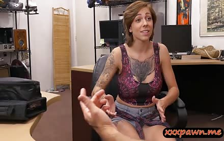 Tattooed Woman Sucks Off And Drilled By Nasty Pawn Guy