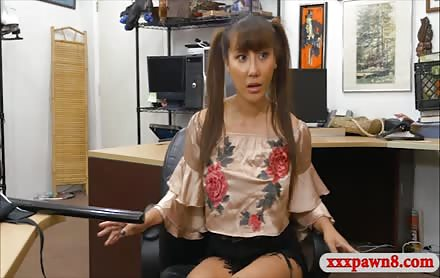 Sexy Asian Sells Samurai Sword And Railed By Pawn Man