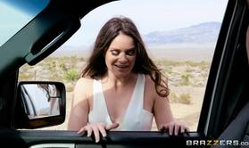 Jenna J Ross Fucks Traffic Enforcer At The Back Of His Truck