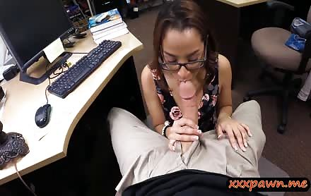 Coed With Glasses Gets Pussy Banged By Pervert Pawn Man