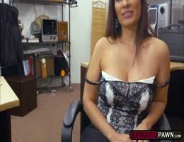 Naughty MILF Sophie Leon Fucks Pawnmans Cock For Money