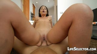 Small Titted Girl Plays With A Huge Dick – Nataly Gold