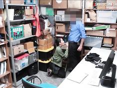 Jade Noir Caught Stealing And Screwed By Pervert LP Officer