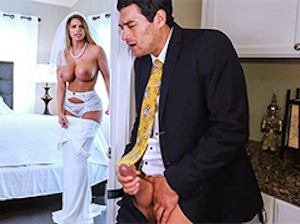 Brooklyn Chase Catches Stepson Jerking