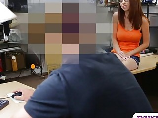 Petite Chick Drilled By Nasty Pawn Dude In The Backroom