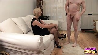 Amateur CFNM – Sexy Blonde Fucks Only With Condoms