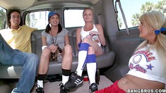 Horny Babes Enjoy In The Back Of The Van
