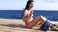 Playful Girl Aurita Flashes Her Tits And Pussy In Egypt