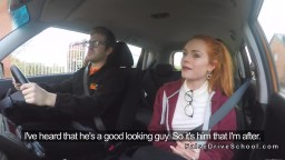 Pale Student Bangs In Driving School