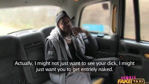Tattooed Taxi Driver Fucks A Black Client With Big Dick