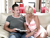 Hot Tempered Old Nanny Diane Sheperd  Has An Affair With Young Student