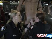 Cooperative Criminal Decides To Please Horny Female Officers