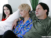 Spoiled Stepdaughter Raven Reign Seduces Her Stepdad In Front Of Sleeping Mom