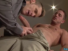 Large Dong Homo Blow Job Sex With Spunk Fountain