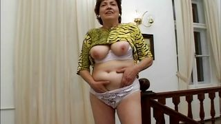 Grandma's Too Horny To Make It To The Bedroom!