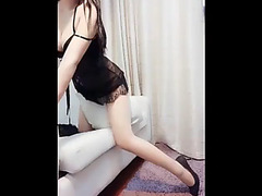Chinese Livecam Gal Plays With Her Fake Penis Three