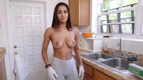 Lovely Brazilian Girl Showing Her Ass In The Kitchen