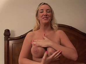 Naughty Girl Squeezed Her Big Boobs In Bedroom