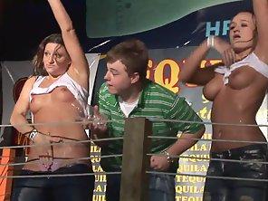 Hottest Ladies Enjoy Flashing During Wet Tee Shirt Contest