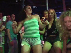 Skinny Girls And Their Guys Enjoy Dancing During Party