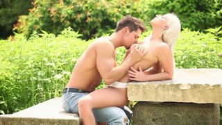 Blonde Needs Nothing But Her Man's Hard Ram Rod In Her Mouth To Be Happy