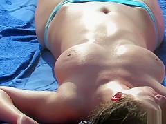 Real Voyeur Beach Amateur Fat Boobs Topless Milfs Video
