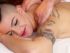 Raven Massage Client Eats Amateur Cock