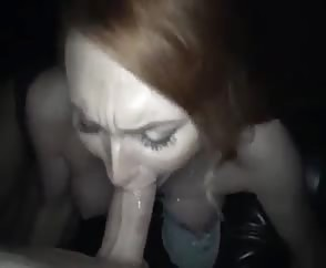 Beautiful Blue Eyed Redhead Pov Blowjob Facial
