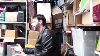 Thieving Brunette Gets Banged By A Perverted Mall Cop In A Warehouse