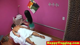 Asian Masseuse Spoon Fucked Before Cumshot