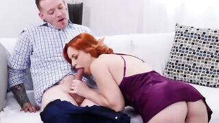 Gorgeous Redhead Minx Has Her Pussy Licked And Pumped By A Randy Young Guy