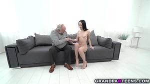 Hot Teen Sasha Sparrow Play And Fuck With Grandpa