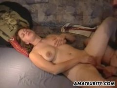 Amateur Milf Toyed And Fucked